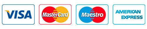 Visa Mastercard Maestro American Express